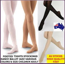 foot footed tights dance stockings ballet pantyhose size children