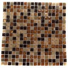 splashback tile temple coast 12 in x 12 in x 8 mm glass mosaic