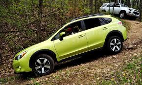 subaru crosstrek green off road test review 2014 subaru xv crosstrek hybrid is
