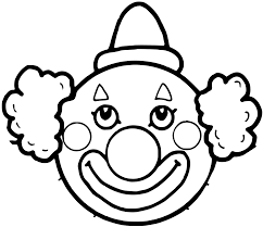 cute clown coloring pages getcoloringpages com
