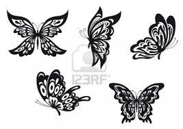 lots of black butterfly designs clip library
