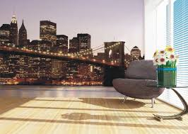 wall mural wallpaper brooklyn bridge new york skyline nyc photo wall mural wallpaper brooklyn bridge new york skyline nyc photo 360 cm x 270 cm 3 94 yd x 2 95 yd