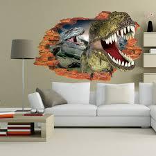 Kids Dinosaur Room Decor Brand New Dinosaur Jurassic Park Large 3d Wall Sticker For Kids
