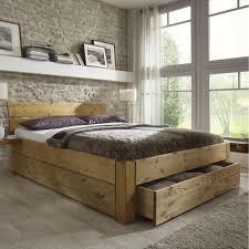 Schlafzimmer Aus Holz Doppelbett Bett Gestell Mit Schubladen 180x200 Kiefer Massiv Holz