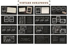 vintage scrapbook album vintage scrapbook ppt template by blixa 6 studios thehungryjpeg
