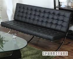barcelona 3 seater sofa italian leather replica reproduction