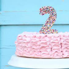 number cake topper sprinkle cake topper
