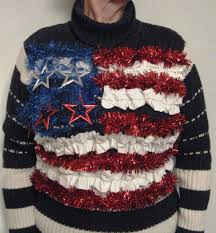 Flag Sweater Burford Designs U0027tis The Season For Ugly Christmas Sweaters