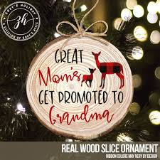 wood ornament great pregnancy announcement