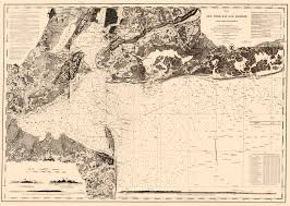Map Of New York Harbor by Old State Map New York Bay U0026 Harbor Uscs 1845