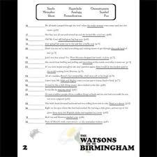 the watsons go to birmingham figurative language 64 quotes tpt