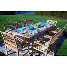 Patio Dining Furniture Amazon Com New 9pc Grade A Teak Outdoor Dining Set One Double