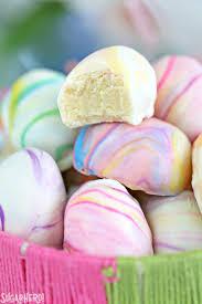 pastel easter eggs marbled easter egg truffles sugarhero