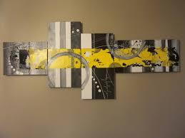 Tableau Triptyque Contemporain by Tableau En 4 Parties Acrylique Moderne Contemporain Mixed
