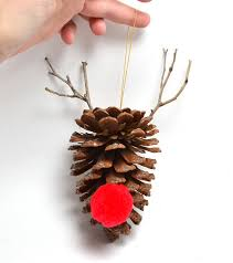 simple diy pine cone ornaments a bigger