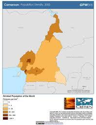 Map Of Cameroon Map Gallery Sedac