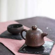 Lotus Flower Tea - lotus flower jianshui zitao purple clay tea pot 80ml