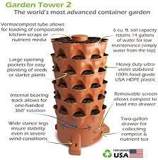 amazon com garden tower 2 the composting 50 plant organic