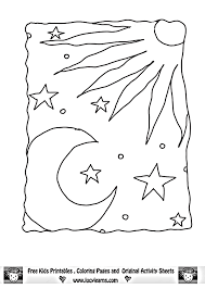sun moon coloring coloring pages kids adults