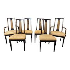 Black Lacquer Dining Room Furniture 1980s Drexel Heritage Et Cetera Asian Style Black Lacquered Dining