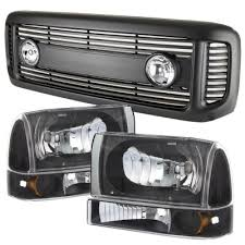 2002 ford excursion tail lights ford excursion 2000 2004 black grille with fog lights and headlights