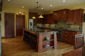 mission style kitchen island white oak residence craftsman kitchen milwaukee by