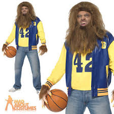 80s Halloween Costumes Men Mens Teen Wolf Costume 80s Halloween Werewolf Fancy Dress