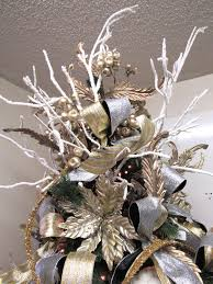 2017 gold u0026 silver christmas tree inspiration trendy tree blog