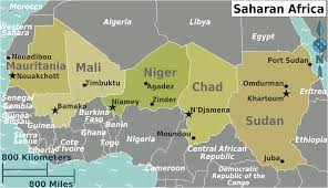 Mali Africa Map by Saharan Africa Regions Map U2022 Mapsof Net