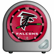 amazon com nfl atlanta falcons desk clock 2 75