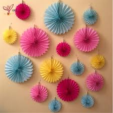 25cm 1pcs tissue paper fan honeycomb fan decoration paper crafts party wedding birthday home decor party