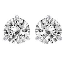 diamond stud earings 1 5 carat solitaire diamond stud earrings platinum