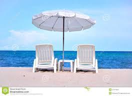 Beach Sun Umbrella Sun Beach Chairs With Umbrella Stock Photos Image 21374083