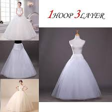 wedding dress underskirt zintown 1 hoop 3 layer bridal gowns slip crinoline prom