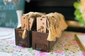 wooden party favors kara s party ideas wooden bookmark favors from a vintage
