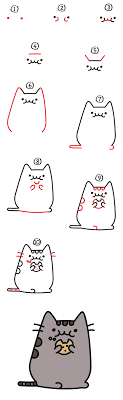how to draw the pusheen cat a cookie giveaway for
