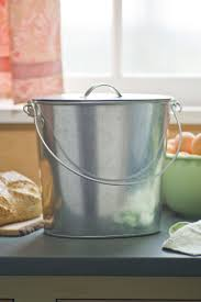 compost canister kitchen galvanized kitchen compost pail buy from gardener u0027s supply