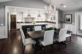 Transitional Pendant Lighting Kitchen - chicago large open concept kitchen transitional with globe pendant