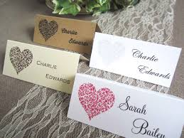 Design Your Own Place Cards 10 X Vintage Heart Wedding Place Name Cards Table Guest Cards