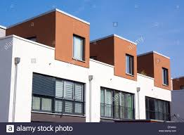 terraced house modern architecture in the bauhaus style