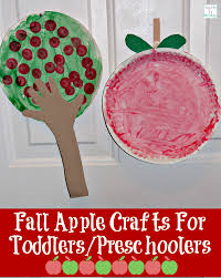 fall apple crafts for toddlers preschoolers
