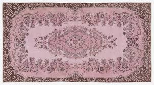 Vintage Overdyed Turkish Rugs Vintage Turkish Pink Overdyed Floral Rug For Sale At Pamono