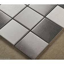 stainless steel home decor stainless steel sheet silver water proof metal wall backsplash tiles