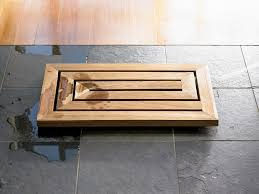 teak bath mat adds beauty and safety into bathroom enstructive com