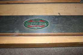 antique shuffleboard table for sale vintage rock ola shuffle board table 20ft for sale pinterest