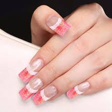 25 best ideas about blue french manicure on pinterest colorful