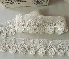 lace ribbon by the yard 1 yard vintage style cotton crochet lace trim lovely flower