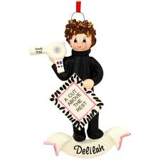 personalized hair stylist ornament bronner s
