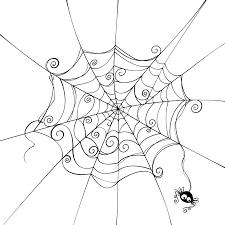 drawn spider web cartoon pencil and in color drawn spider web