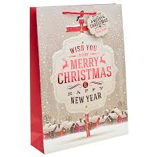 we wish you a merry christmas gift bag u2013 extra large x 1pc my